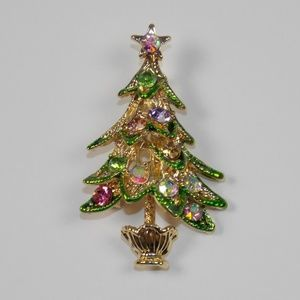 Vintage Style Christmas Tree Brooch Lapel Pin Up